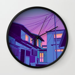 Kyoto Alley Wall Clock