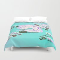 sewing Duvet Covers featuring Sewing Splash by minniemorrisart