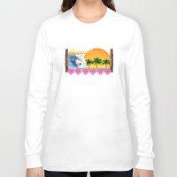 hawaiian Long Sleeve T-shirts featuring Hawaiian Surfing by MacDonald Creative Studios