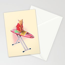 Hoverboard Cat Stationery Cards