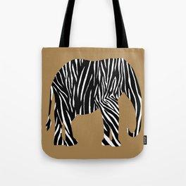 Zebra Elephant Safari Tote Bag