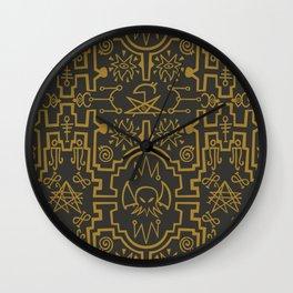 Lovecraftian pattern dark Wall Clock