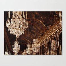 Hall of Mirrors. Great Hall of Versailles. Canvas Print