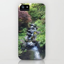 Kubota Garden rock water stream iPhone Case