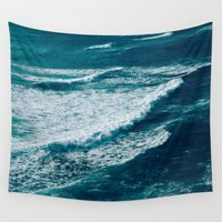 waves Wall Tapestries featuring Waves  by StayWild