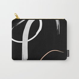 Tricolour Abstract Carry-All Pouch