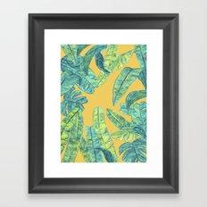orange tropical daze Framed Art Print