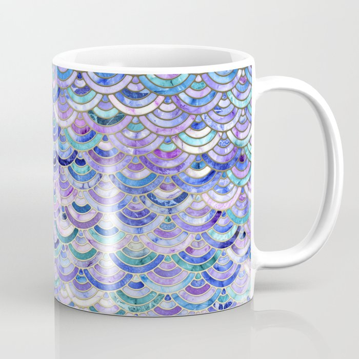 Marble Mosaic in Amethyst and Lapis Lazuli Coffee Mug