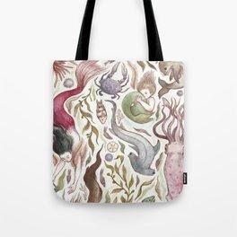 Mermaids and Sea Creatures Tote Bag