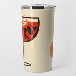 Aperol Spritz Cocktail Print Travel Mug