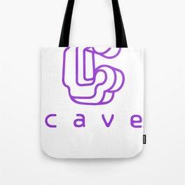 Cave Co. Purple Tote Bag
