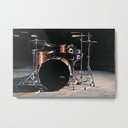Drums in a parking garage. Metal Print