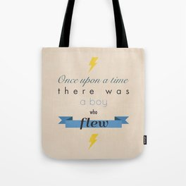 there was a boy who flew Tote Bag
