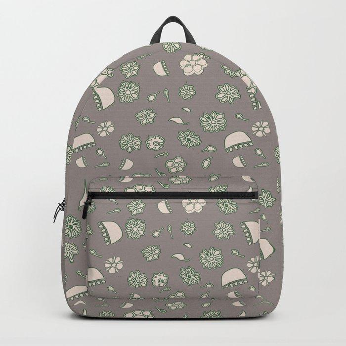 Flower border green Backpack