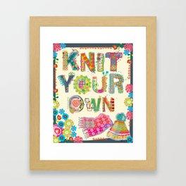 Knit Your Own Framed Art Print