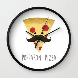 Popparoni Pizza Wall Clock