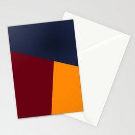 dégradé trapèze bleu rouge Stationery Cards