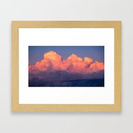 Barcelona Clouds at Sunset Framed Art Print