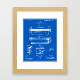Drum Patent Framed Art Print