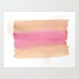 Peach Sandwich Art Print