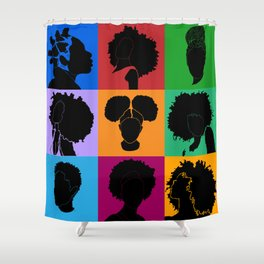 FOR COLORED GIRLS COLLECTION COLLAGE Shower Curtain