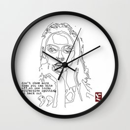 Swallow your ego Wall Clock