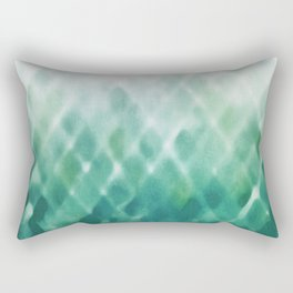 Diamond Fade in Teal Rectangular Pillow