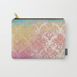 Abstract Pattern:  Watercolor Summery Brights 1 Shabbalicious Damask Carry-All Pouch