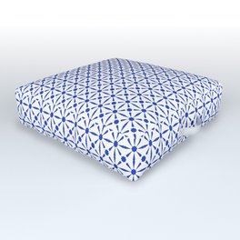N243 - Geometric Oriental Traditional Moroccan Andalusian Tiles Style Outdoor Floor Cushion