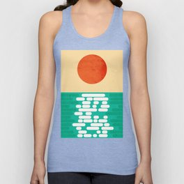 Sun over the sea Unisex Tank Top
