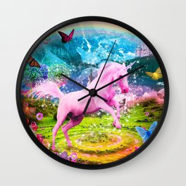 Vlentina' Unicorn Wall Clock
