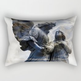 Cemetery Angles with Marble Sky Rectangular Pillow