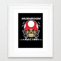 mario kart Framed Art Prints featuring Mushroom racing mario kart by Buby87