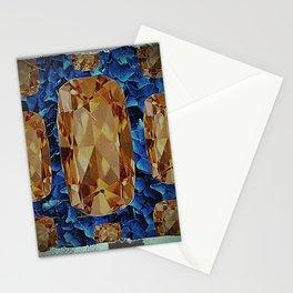 SHABBY CHIC NOVEMBER CITRINE GEMS BIRTHSTONE Stationery Cards
