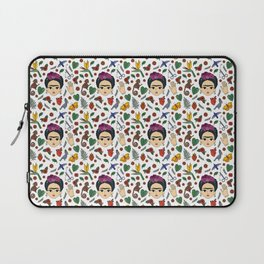 Frida Kahlo Pattern Laptop Sleeve