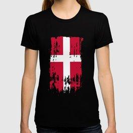 DK DNK Denmark Flag T-shirt