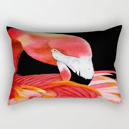 Flamingo Portrait Rectangular Pillow
