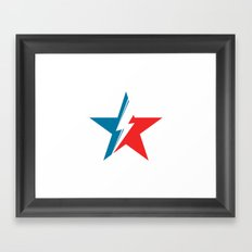 Bowie Star white Framed Art Print