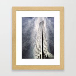 Boston [Sky cut 410] Massachussets, Usa Framed Art Print