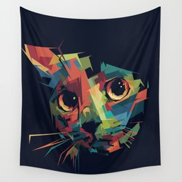 Sneaky Cat Wall Tapestry