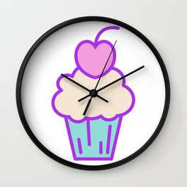 Lovely cupcake design Wall Clock