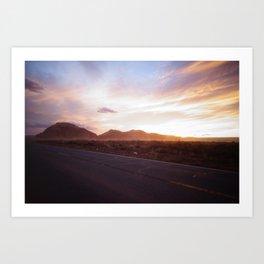 Sunset - Monument Valley Art Print