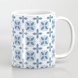 Damask pattern design in blue Coffee Mug