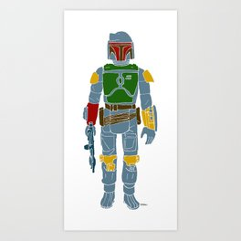 My Favorite Toy - Boba Fett Art Print