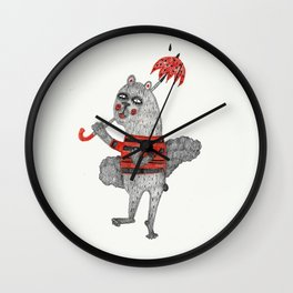 one teddybear Wall Clock