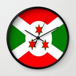 Flag of Burundi Wall Clock