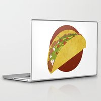 taco Laptop & iPad Skins featuring Taco Art by RetroFresh
