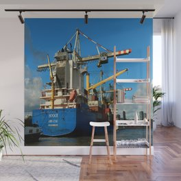 Container Ship Wall Mural