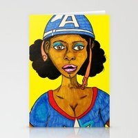 captain silva Stationery Cards featuring Captain by N3RDS+INK