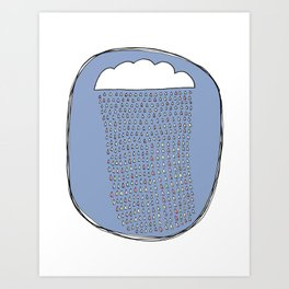 Heartly Raining Art Print